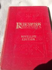 ANTIQUE HB 1899 NOVELLO'S EDITION REDEMPTION CHARLES GOUNOD #2 GILT EDGE PAGES